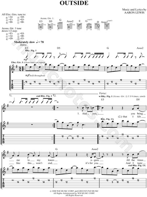 Staind Outside Chords Pdf Download