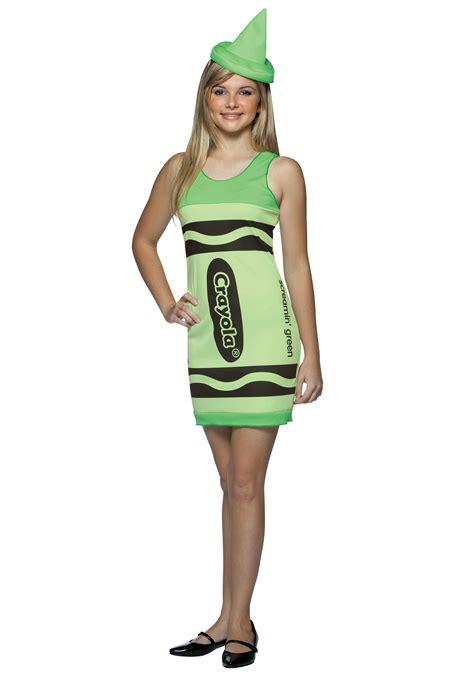 teen screamin green crayon dress