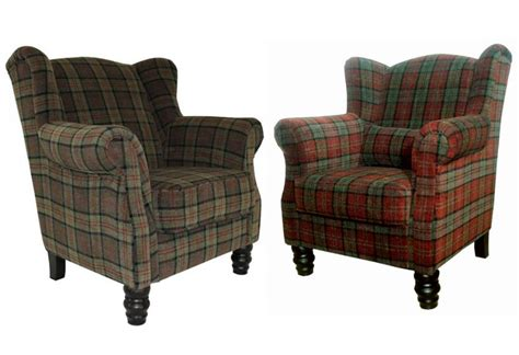 plaid armchair xyz william wing chair traditional style velvet plaid in 3 colours dark wood