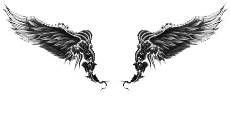 black and white angel wings tattoo designs wings tattoos png transparent wings tattoos png images
