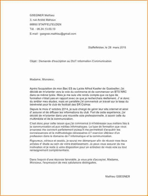 Lettre De Motivation Cole Sup Rieure D lettre de motivation ecole sup 28 images 9 lettre