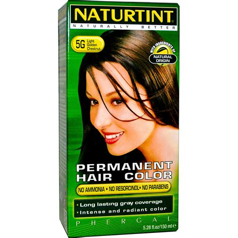 naturtint permanent hair color 5g light golden chestnut