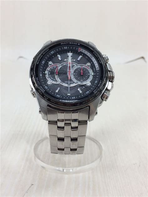 casio solar edifice chronograph wave ceptor eqw  analog slv da good wrist ebay