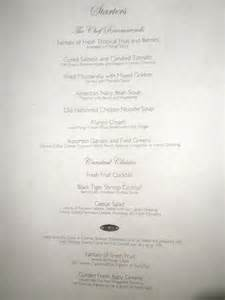 carnival dining rooms menu exle 2
