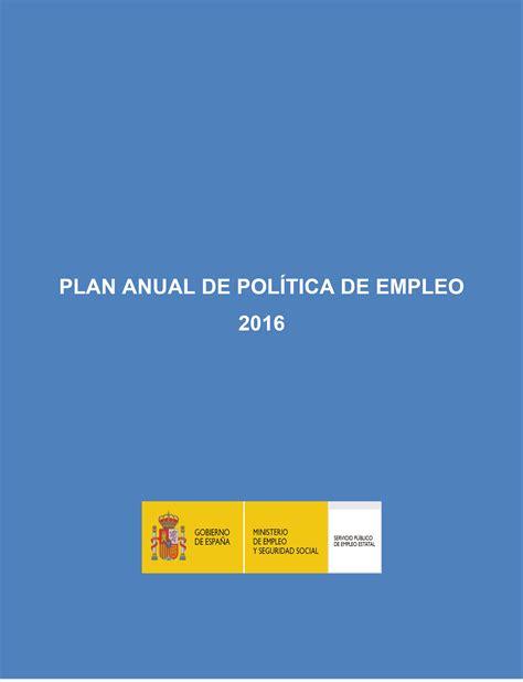 plan anual de trabajo de ie 2016 boe es documento boe a 2016 8107