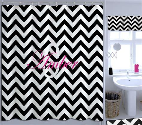 chevron print shower curtains black and white college shower curtain chevron print is