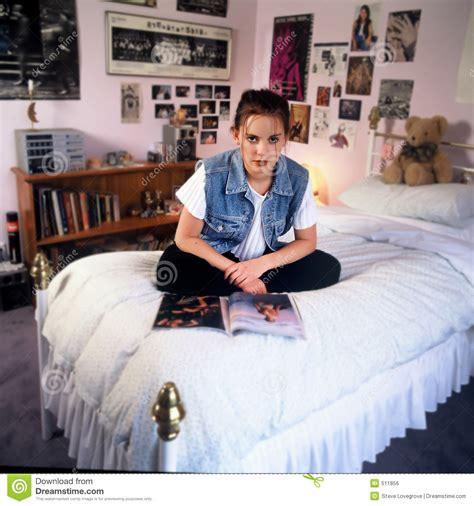girls in bed girl in bedroom royalty free stock image image 511856