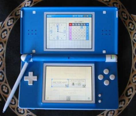 game gear led mod blue and light blue nintendo ds lite with zelda mod