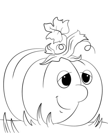 cute pumpkin coloring page cute cartoon pumpkin coloring page free printable