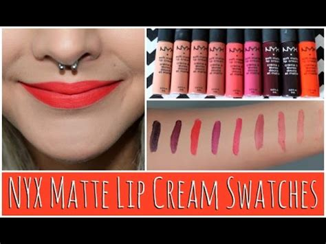 nyx soft matte lip ingredients nyx soft matte lip swatches 9 new 2014 colors