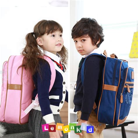 Influg Collag Backpack 0450 new children s school bags korean children a small bag influx of boy and simply academic