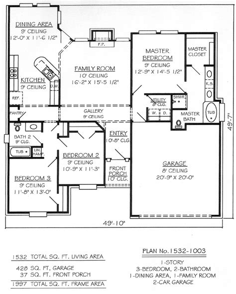 House Plans 3 Bedroom 2 Bath Car Garage 3 Bedroom House Plan With Double Garage 2 Bedroom House