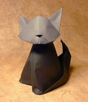 Origami 3d Cat - how to build origami modules for 3d origami origami