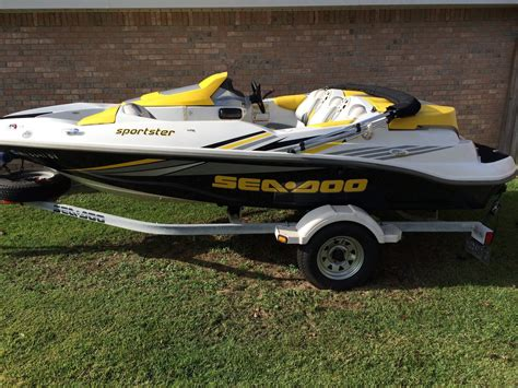 sea doo boat 215 hp sea doo sportster 4tec supercharged 215hp boat for sale