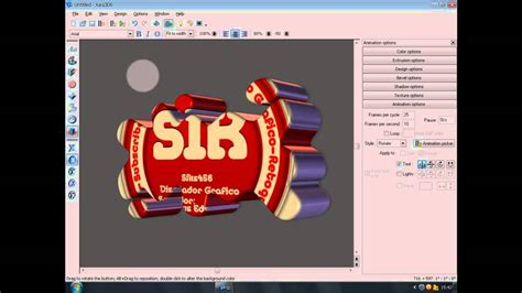 video tutorial xara3d tutorial xara 3d crear marcas de agua en 3d youtube