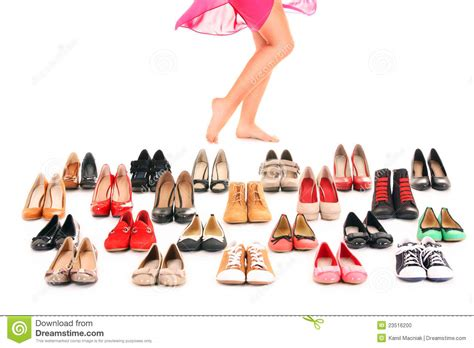 shoes shopping shoe shopping stock photo image of caucasian many