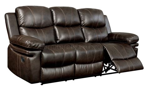 Leather Match Sofa Listowel Reclining Sofa Cm6992 In Brown Leather Match W Options