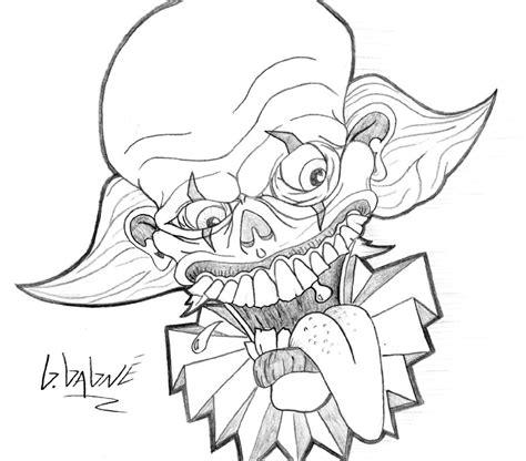the gallery for gt evil clown tattoos drawings happy clown by gahiel on deviantart