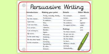 persuasive writing word mat writing write word mat