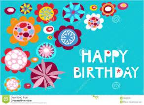 greeting card happy birthday royalty free stock photo image 10496635