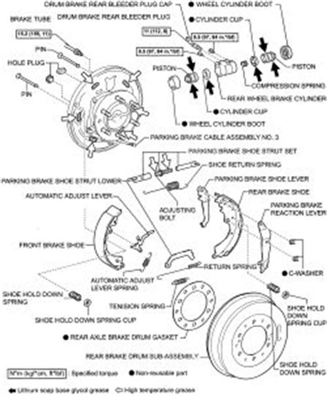 repair anti lock braking 2007 toyota tacoma parking system repair guides rear drum brakes brake drums autozone com