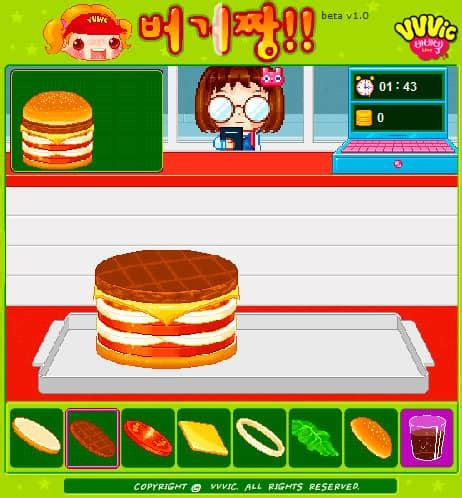 hamburgers maken spel funnygames.be