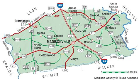 madisonville texas map image gallery county tx
