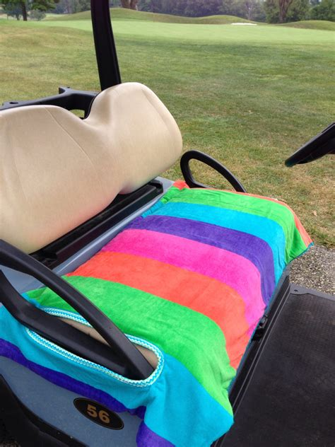 towel seat covers for golf carts striped delight terry cloth golf cart seat cover