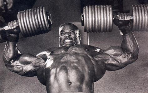 ronnie coleman bench press dumbbell be hench