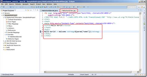 eclipse jsp editor design view java ee ide setup with eclipse neon and tomcat 9 pega