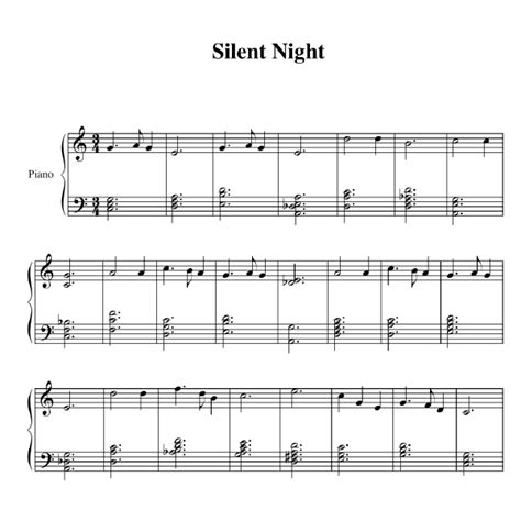 Piano Chords For Silent Night