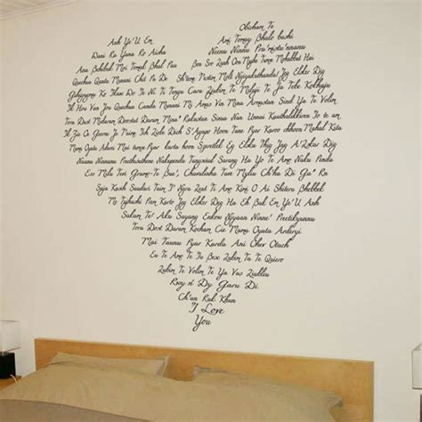 words wall stickers just say i you shaped words wall decals