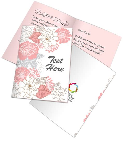 half fold greeting card template photoshop bi fold a5 greeting card mockup cover actions premium