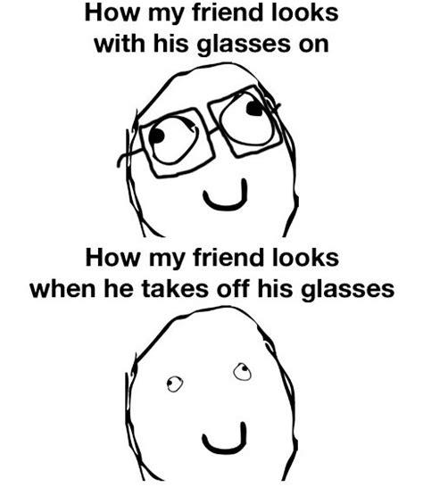 Glasses Off Meme - eyeballs with glasses memes