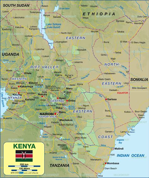 world map of kenya map of kenya politically map in the atlas of the world