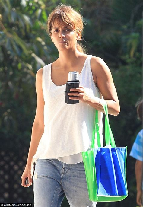 Halle Berry Gets On Knees For A by Make Up Free Halle Berry Shows Naturally Striking