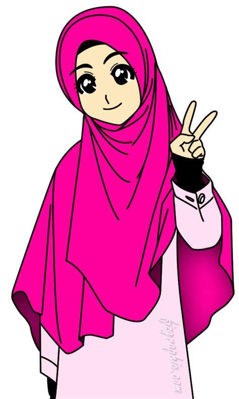 muslimah kartun animasi  wanita