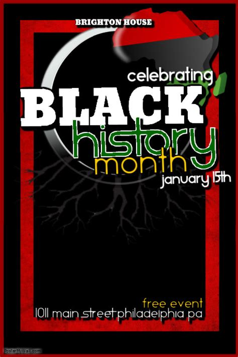 black history template postermywall