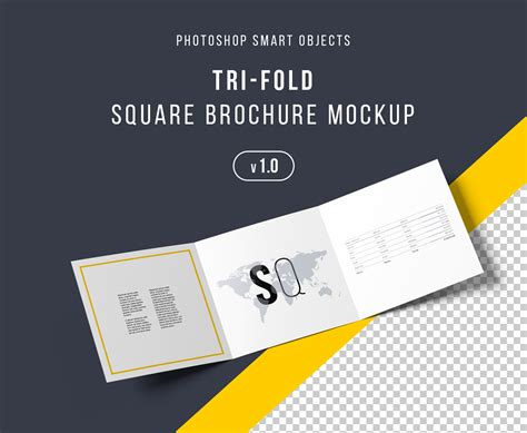brochure mockup template free square trifold brochure mockup psd on behance