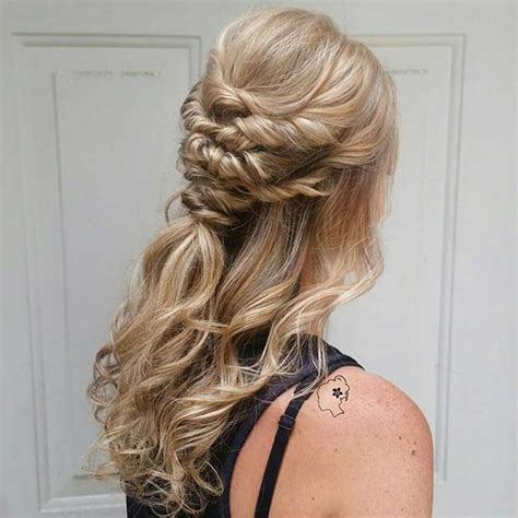 bridesmaid hairstyles for medium hair 31 half up half hairstyles for bridesmaids stayglam