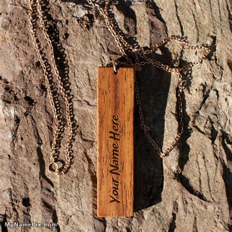 wood pattern name personalized wood pattern pendant with name