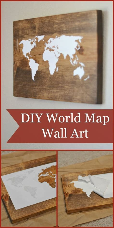 Diy Wood Wall Decor by Best 25 Map Wall Ideas On World Map Wall