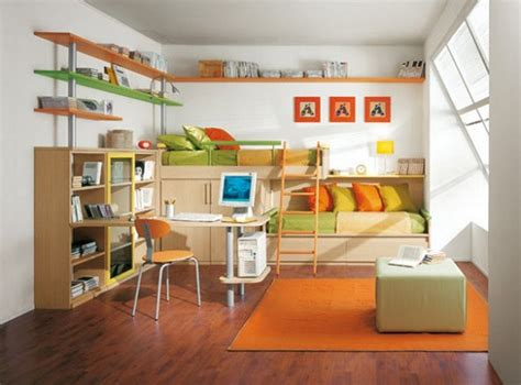 kid spaces design bright and colorful room with lime and orange pillows