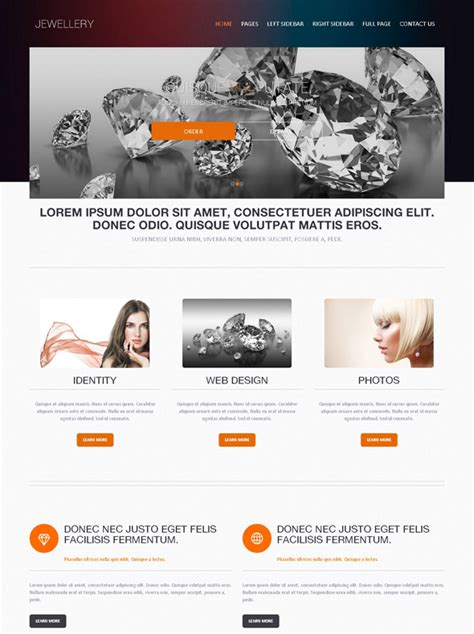 html templates for jewellery website diamond jewelry website template jewelry website