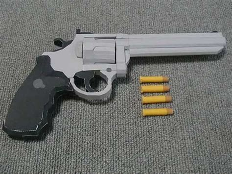 Paper Craft Gun - how to make a paper pistol guns of paper nerf