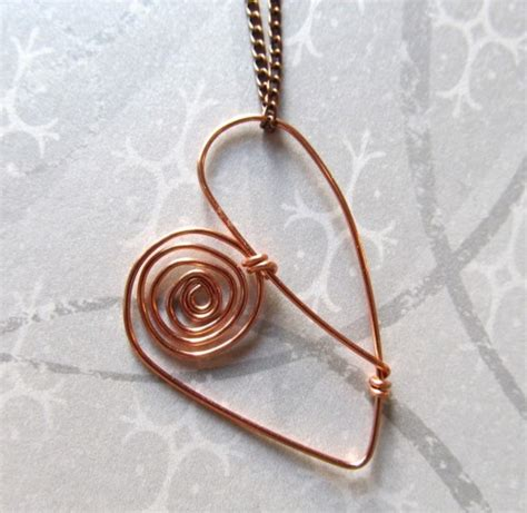 Handmade Wire Necklaces - handmade copper pendant necklace wire wrapped free