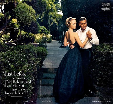 George Clooney Vanity Fair by Gemma Ward And George Clooney As Classic