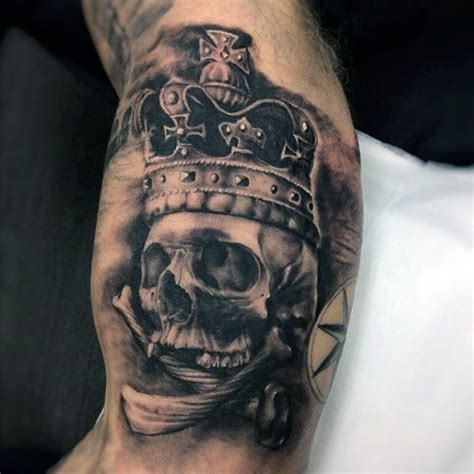skull crown tattoo 30 most powerful crown tattoos for tattoos era