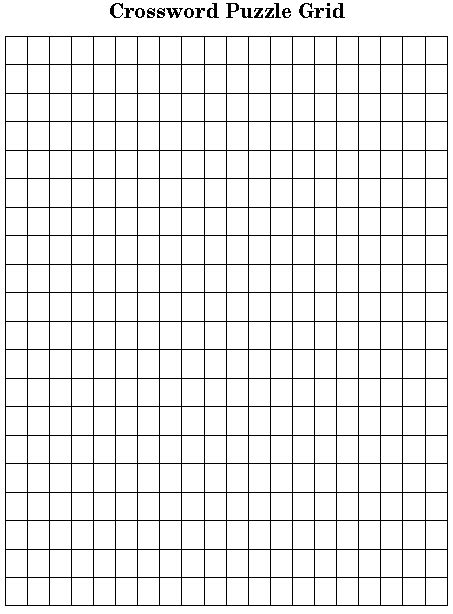 printable graph paper for crossword puzzles classroomtools com blank crossword grid selection page