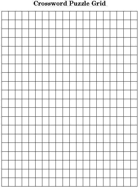 empty grid empty crossword template